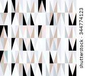 scandinavian design triangles... | Shutterstock .eps vector #344774123