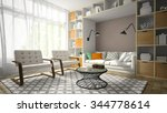 interior of modern design room... | Shutterstock . vector #344778614