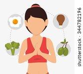 wellnees lifestyle graphic... | Shutterstock .eps vector #344782196