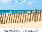 Wooden Fence On An Atlantic...