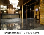 luxury lobby interior. | Shutterstock . vector #344787296