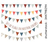 set of cute flag garlands in... | Shutterstock .eps vector #344798294