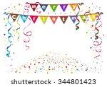 merry christmas. flags garland... | Shutterstock .eps vector #344801423