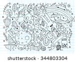hand drawn vector illustration... | Shutterstock .eps vector #344803304