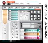 vector modern element template... | Shutterstock .eps vector #344819030