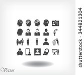 business man icons | Shutterstock .eps vector #344821304