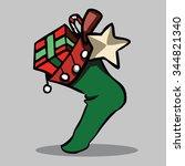 christmas socks vector... | Shutterstock .eps vector #344821340