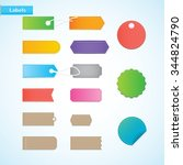 price tags  labels of various... | Shutterstock .eps vector #344824790