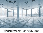 empty office room in modern... | Shutterstock . vector #344837600