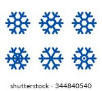 blue abstract snowflake...   Shutterstock .eps vector #344840540