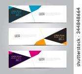 vector design banner... | Shutterstock .eps vector #344848664