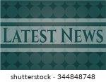 latest news poster or banner | Shutterstock .eps vector #344848748