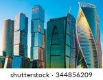 modern skyscrapers of moscow... | Shutterstock . vector #344856209