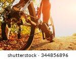 detail of cyclist man feet... | Shutterstock . vector #344856896