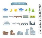 landscape constructor icons set.... | Shutterstock .eps vector #344857688