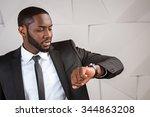 portrait of handsome afro...   Shutterstock . vector #344863208