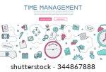 time management for website... | Shutterstock .eps vector #344867888