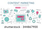 content  marketing for website... | Shutterstock .eps vector #344867900