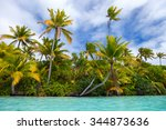 stunning tropical island with... | Shutterstock . vector #344873636