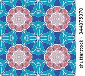 seamless pattern. vintage... | Shutterstock .eps vector #344875370