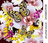 Seamless Background Flowers...