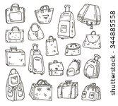 hand drawn bag sketch set | Shutterstock .eps vector #344885558