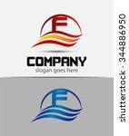 letter f logo  | Shutterstock .eps vector #344886950