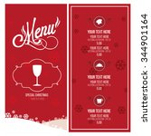 christmas menu illustration... | Shutterstock .eps vector #344901164