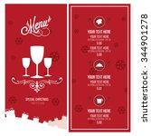 christmas menu illustration...   Shutterstock .eps vector #344901278