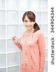 beautiful young woman. portrait ...   Shutterstock . vector #344904344