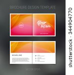 vector abstract brochure design ... | Shutterstock .eps vector #344904770