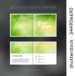 vector abstract brochure design ... | Shutterstock .eps vector #344906690