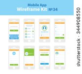 mobile wireframe app ui kit 34. ...