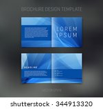 vector abstract brochure design ... | Shutterstock .eps vector #344913320