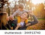 family having fun in a park   Shutterstock . vector #344913740