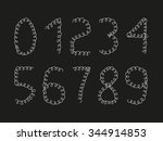 set of hand drawn numerals | Shutterstock .eps vector #344914853