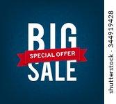 big sale. design template | Shutterstock .eps vector #344919428