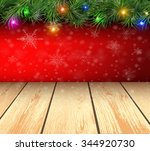 christmas background with fir... | Shutterstock .eps vector #344920730