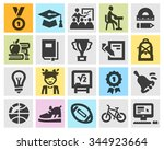 education vector logo design... | Shutterstock .eps vector #344923664