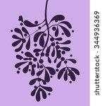 mistletoe vector silhouette... | Shutterstock .eps vector #344936369