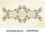 vintage frame | Shutterstock .eps vector #3449443