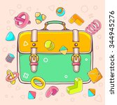 vector colorful illustration of ... | Shutterstock .eps vector #344945276