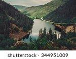 beautiful mountain lake amut ... | Shutterstock . vector #344951009
