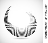 technology lines in circle form ... | Shutterstock .eps vector #344952689