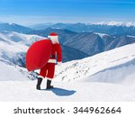 Santa Claus With Christmas Bag...