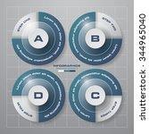 simple editable 4 steps chart... | Shutterstock .eps vector #344965040