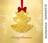 merry christmas and happy new... | Shutterstock .eps vector #344969570