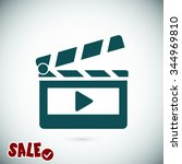 clapper board  icon. one of set ... | Shutterstock .eps vector #344969810