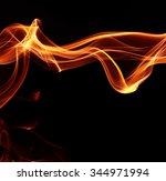 abstract flame on black... | Shutterstock . vector #344971994