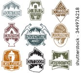 set of vintage grunge labels... | Shutterstock .eps vector #344976218